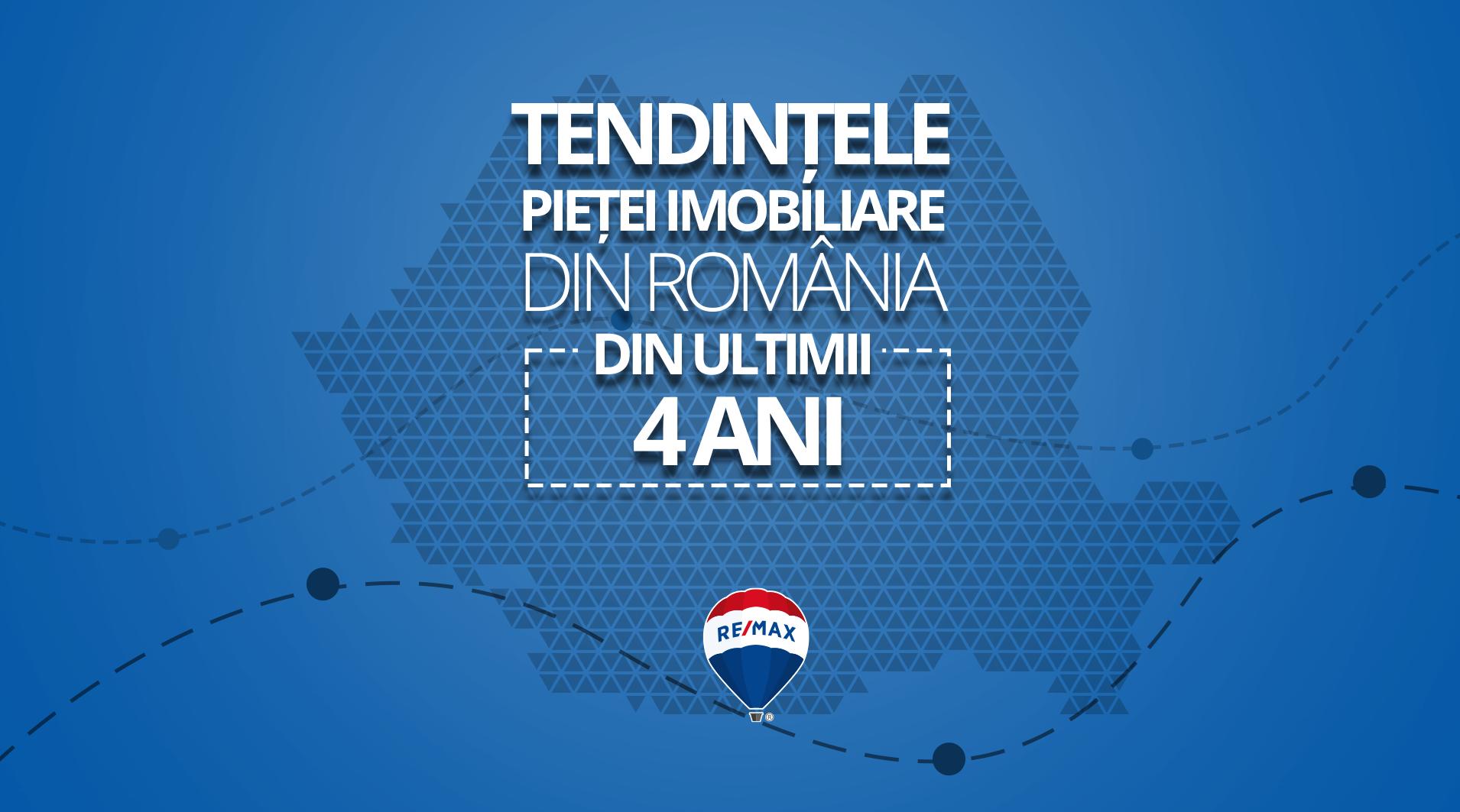 Tendințele pieței imobiliare din România din ultimii 4 ani