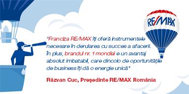 Investiția în franciza imobiliară RE/MAX