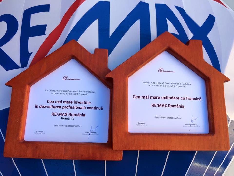RE/MAX România premiată la Gala Profesioniștilor în Imobiliare