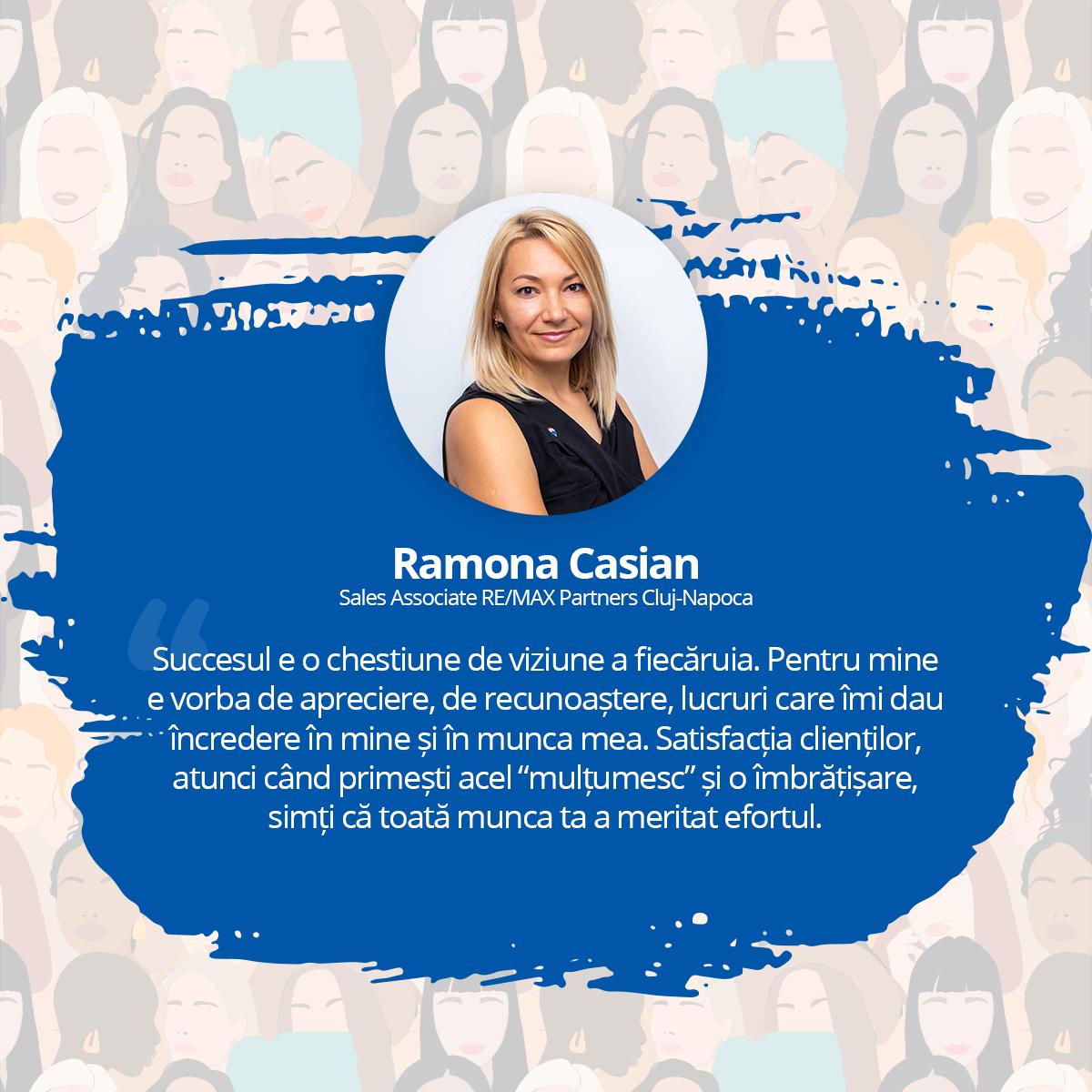 [Interviu Femei de Succes 2021] Ramona Casian, Sales Associate RE/MAX Partners Cluj-Napoca