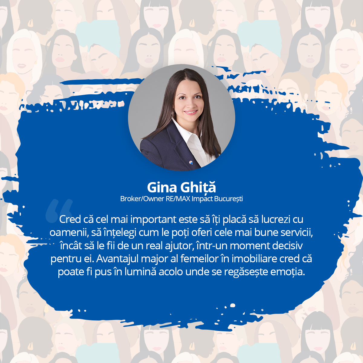 [Interviu Femei de Succes 2021] Gina Ghiță, Broker/Owner RE/MAX Impact București