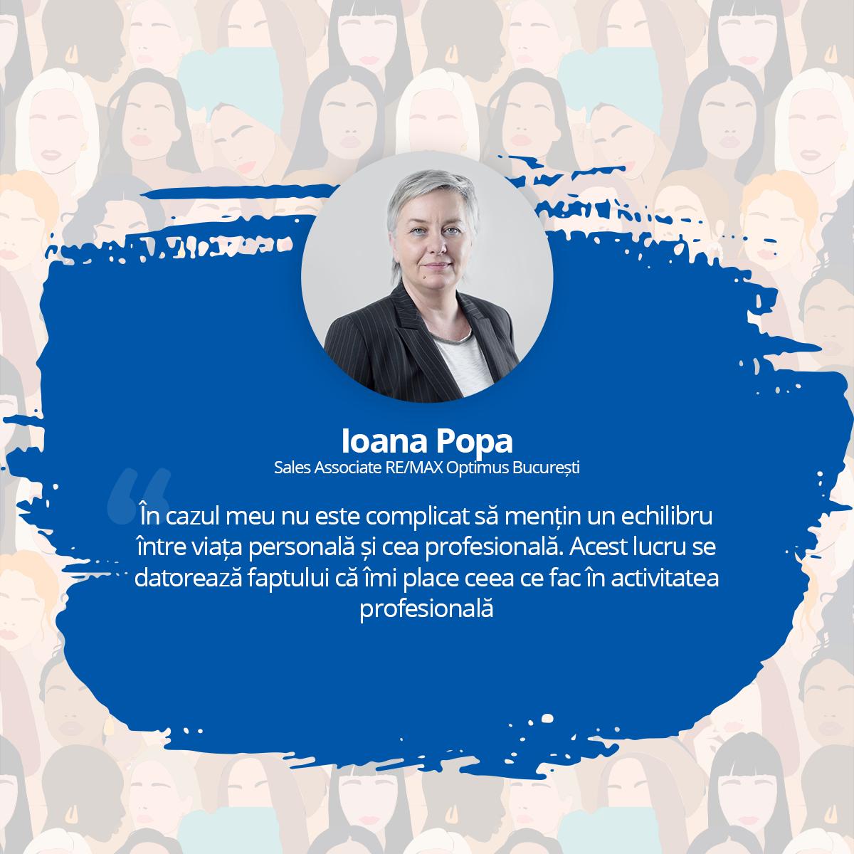 [Interviu - Femei de Succes 2021] Ioana Popa, Sales Associate RE/MAX Optimus