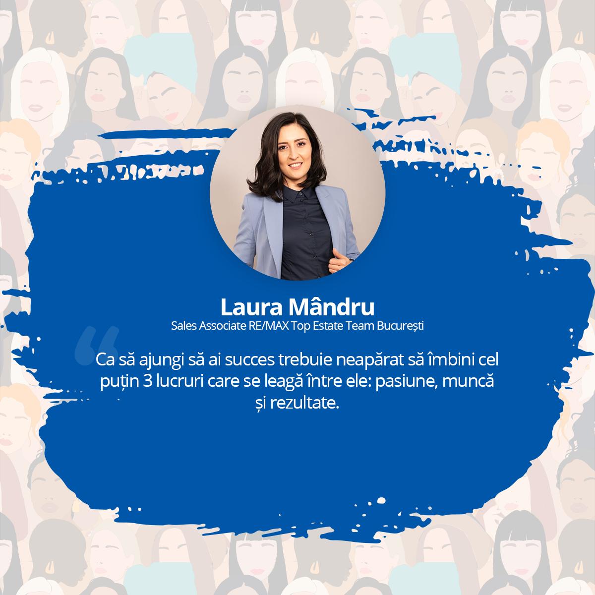 [Interviu Femei de Succes 2021] Laura Mândru, Sales Associate RE/MAX Top Estate Team, București