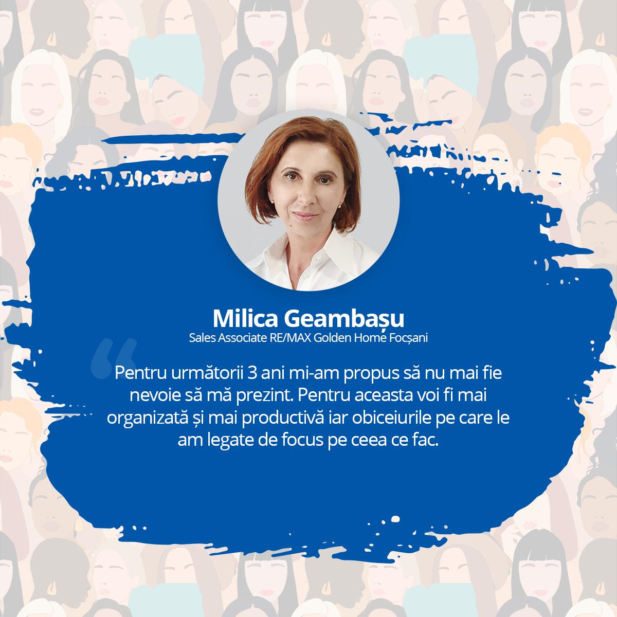 [Interviu Femei de Succes 2021] Milica Geambasu, Sales Associate RE/MAX Golden Home Focșani