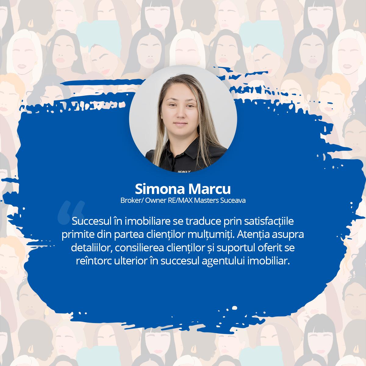 [Interviu Femei de Succes 2021] Simona Marcu, Broker/ Owner RE/MAX Masters, Suceava